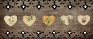 Five hearts border