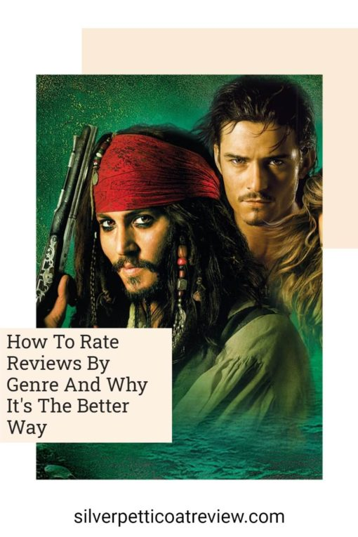 How to Rate Reviews by Genre pinterest image with Pirates of the Caribbean picture