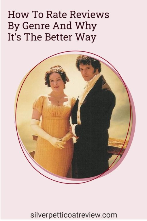 How to Rate Reviews by Genre pinterest image with Pride and Prejudice picture
