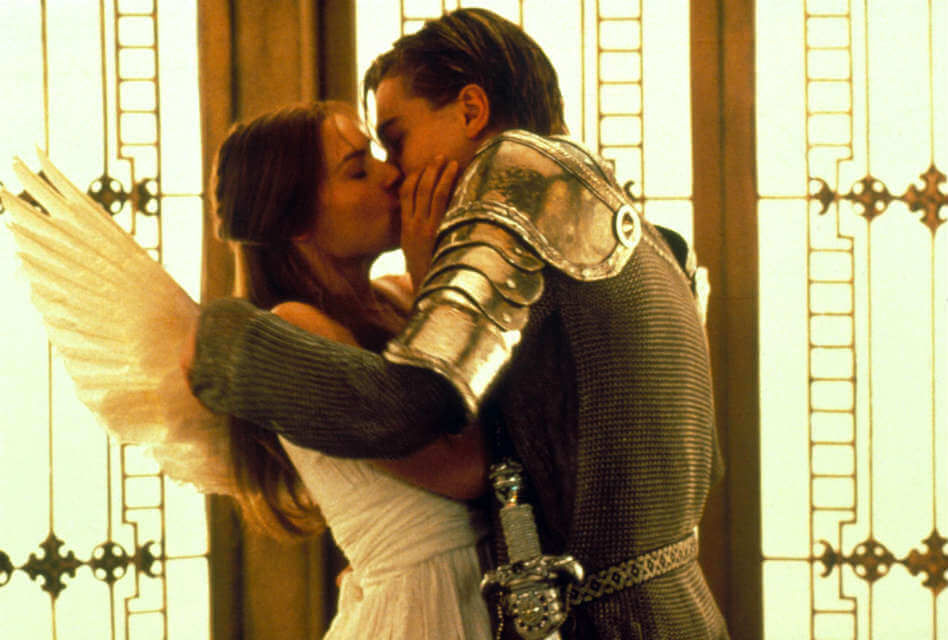 Romeo + Juliet promotional image. Top 5 of the Most Romantic Leonardo Dicaprio Movies to Watch