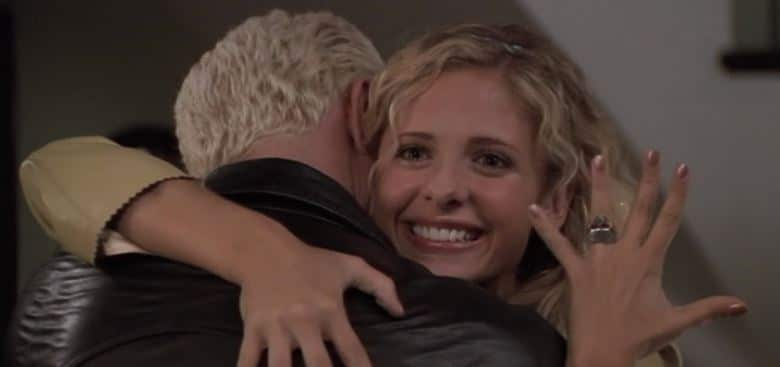 """Spike and Buffy in """"Something Blue."""" Photo: WB"""