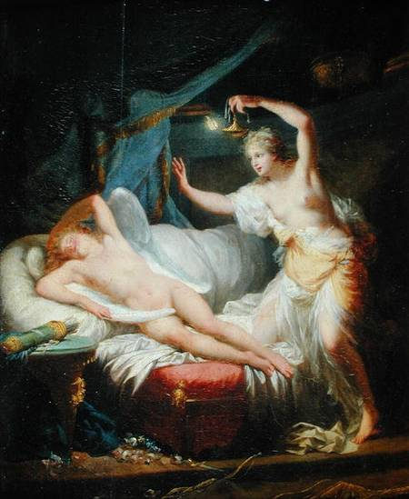 Cupid and Psyche(oil on canvas) By Jean Baptiste Regnault