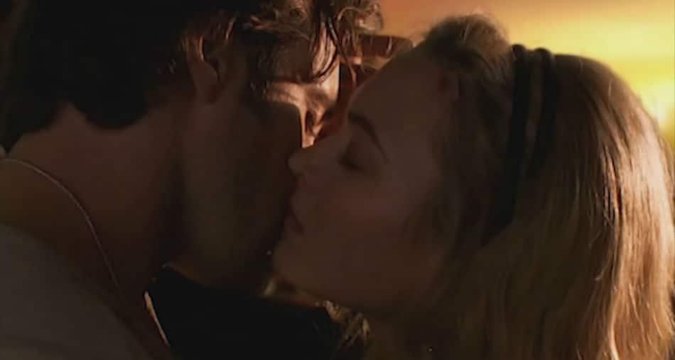 Mick and Beth kiss