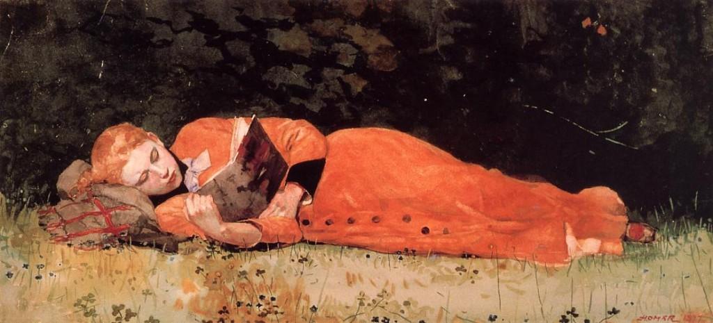 Credit: Winslow Homer 'The New Novel' 1877