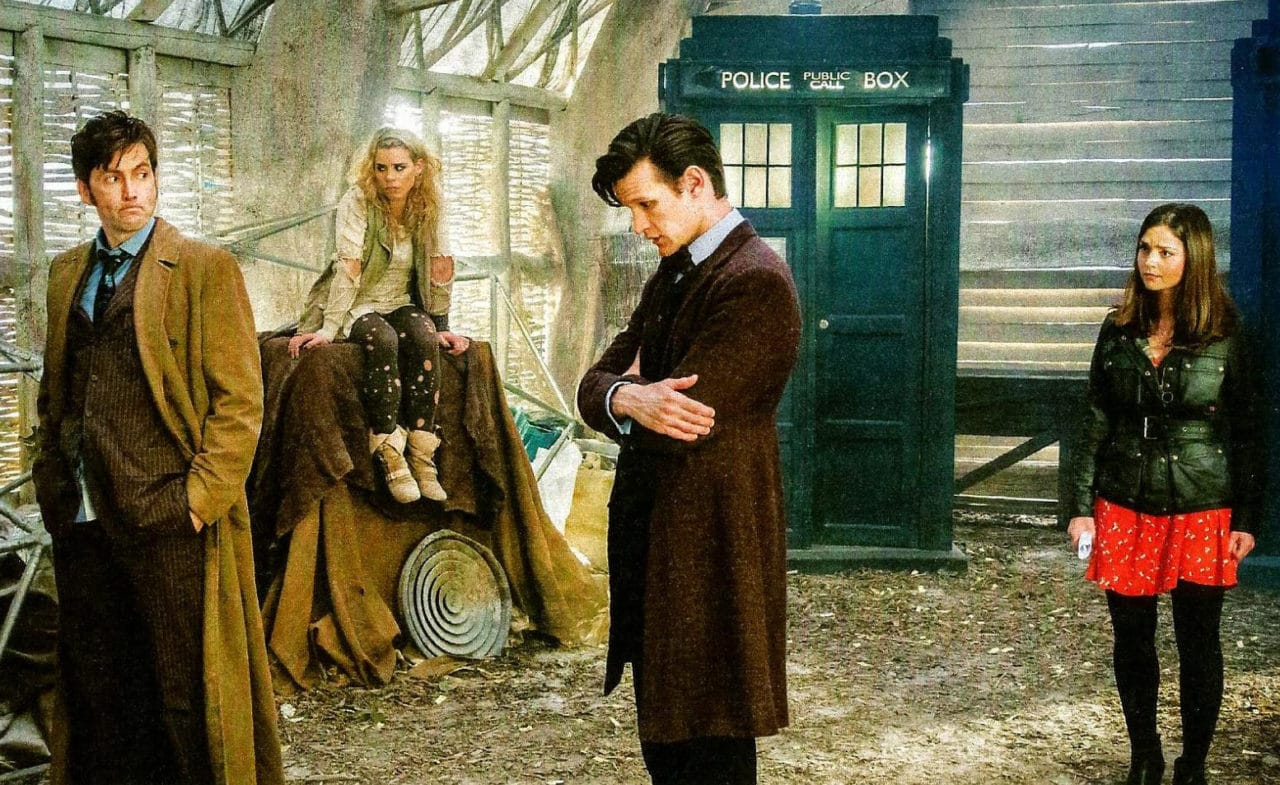 "Behind the scenes of ""The Day of the Doctor."" Photo: Credit to Telegraph Magazine"
