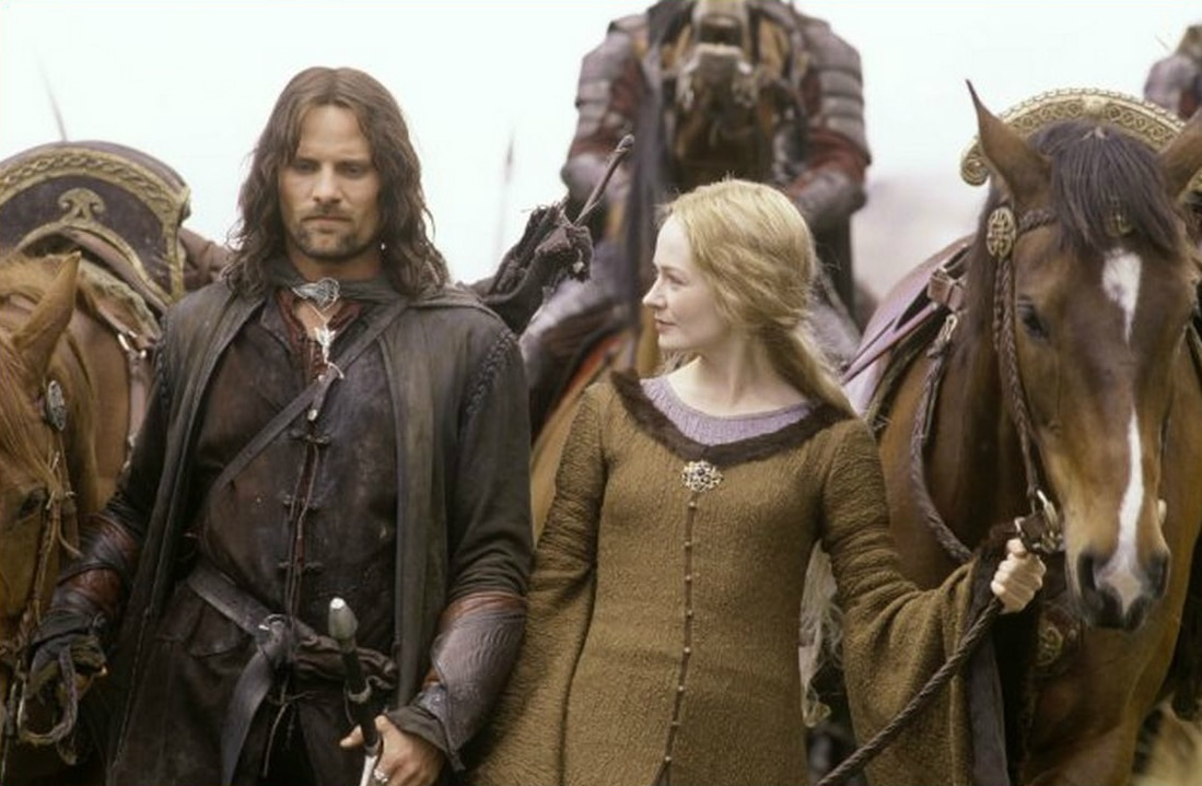Aragorn (Viggo Mortensen) and Eowyn (Miranda Otto) in Lord of the Rings: The Two Towers. Photo: New Line