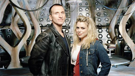 Rose (Billie Piper) and the 9th Doctor (Christopher Eccleston) in season 1. Photo: BBC