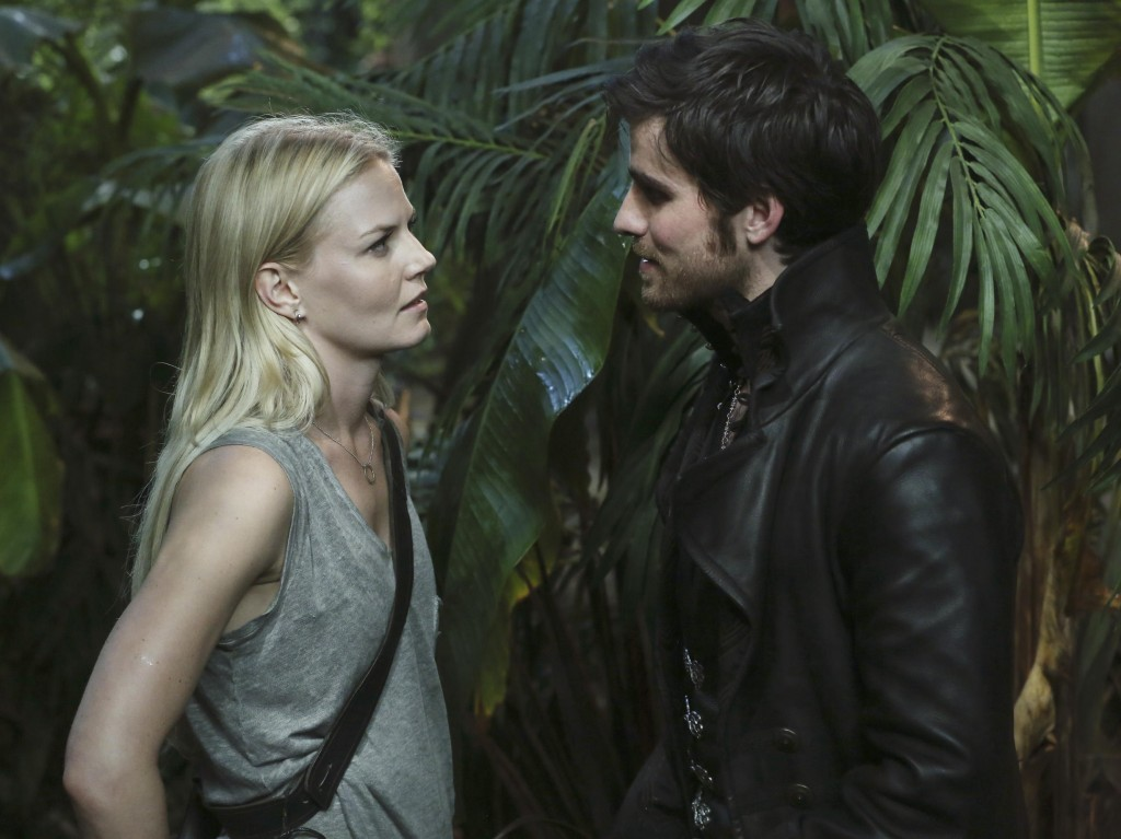 Emma (Jennifer Morrison) and Hook (Colin O'Donoghue) from OUAT. Photo: ABC