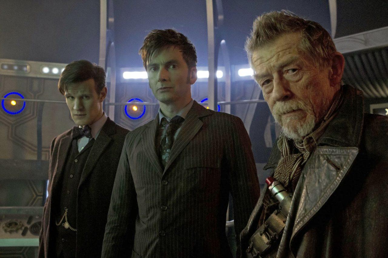 Three different Doctors (Matt Smith, David Tennant and John Hurt) Photo: BBC