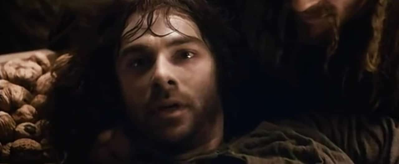 Kili stares back up at his 'angel.'
