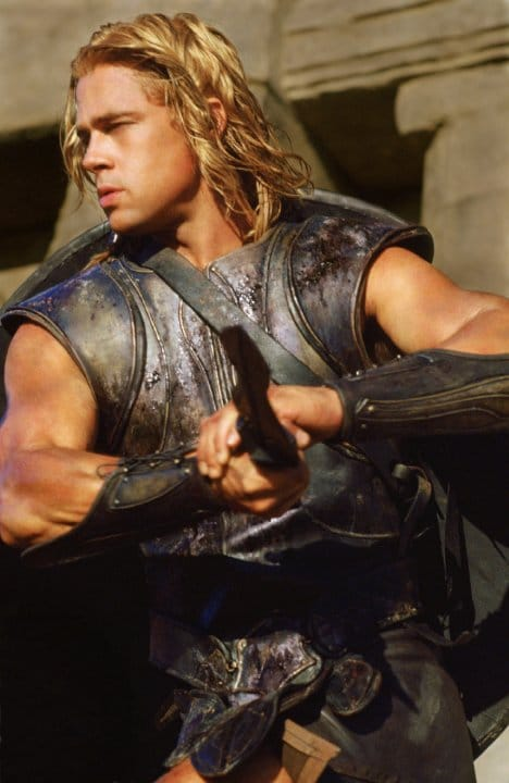 Achilles (Brad Pitt) in Troy Photo: Warner Bros.