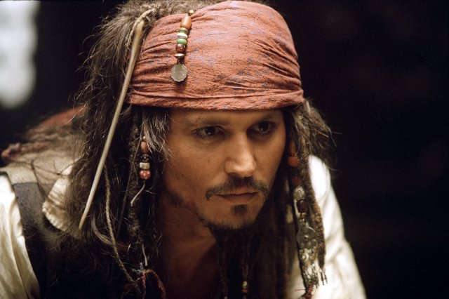 Captain Jack Sparrow (Johnny Depp) in Pirates of the Caribbean Photo: Disney