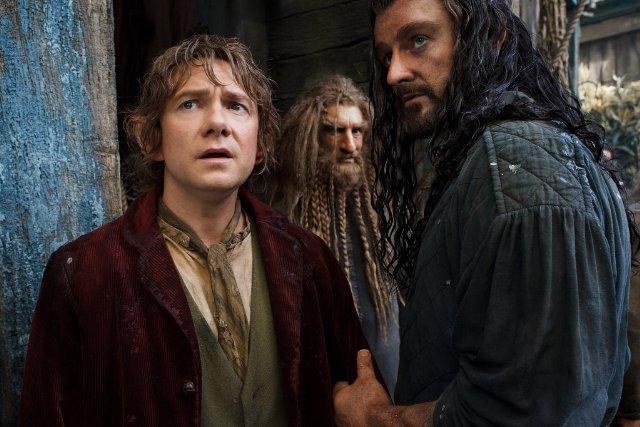 Martin Freeman and Richard Armitage in The Hobbit: The Desolation of Smaug. Image Credit: Warner Bros.