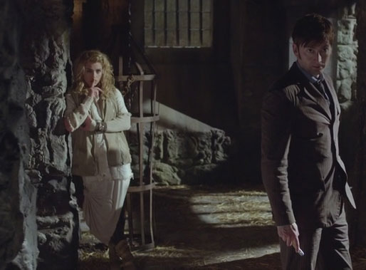 The Moment shushes the War Doctor after 10 tried to figure out why they were all together.