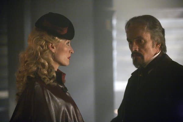 Ben Miles and Victoria Smurfit in Dracula.