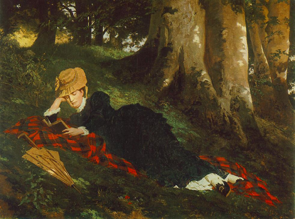 """""""Reading Woman in the Forest"""" by Gyula Beczur (1875); Top 40 Up and Coming YA Novels of 2014"""