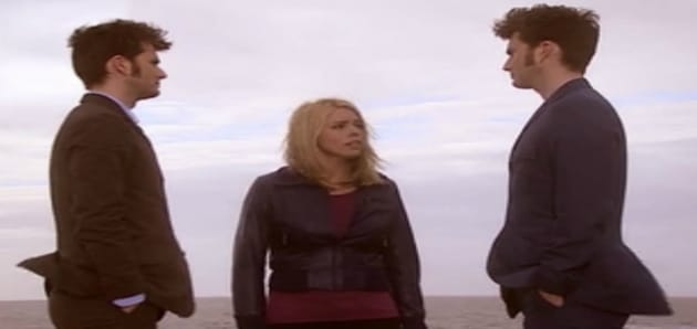 Rose must choose between the two Doctors Photo: BBC
