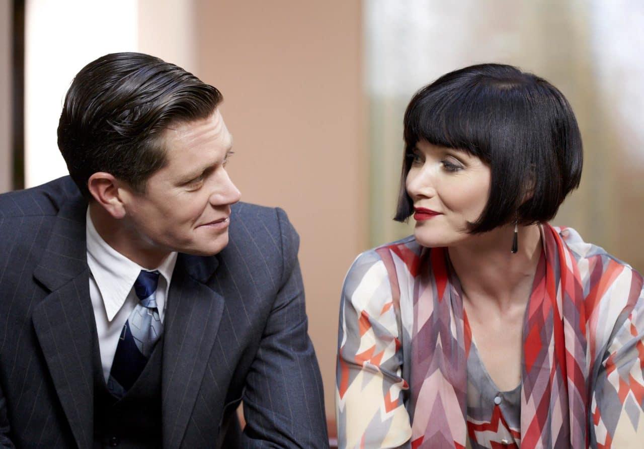 Detective Jack Robinson (Nathan Page) and Miss Phryne Fisher (Essie Davis). Photo: Acorn