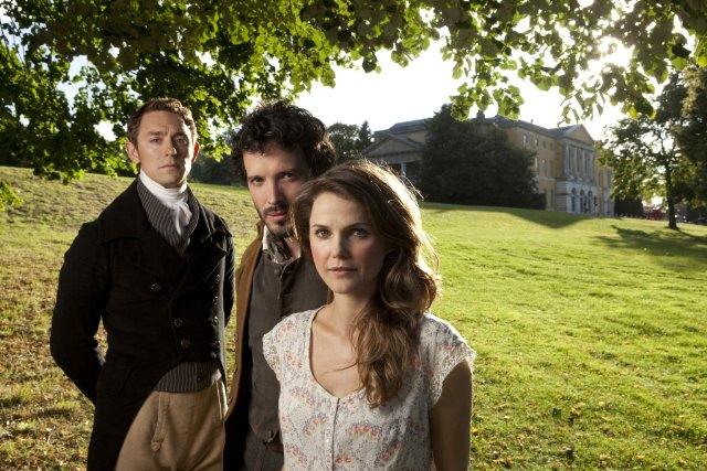 Keri Russell, J.J. Feild, and Bret McKenzie in Austenland. Photo: Sony Pictures Classics