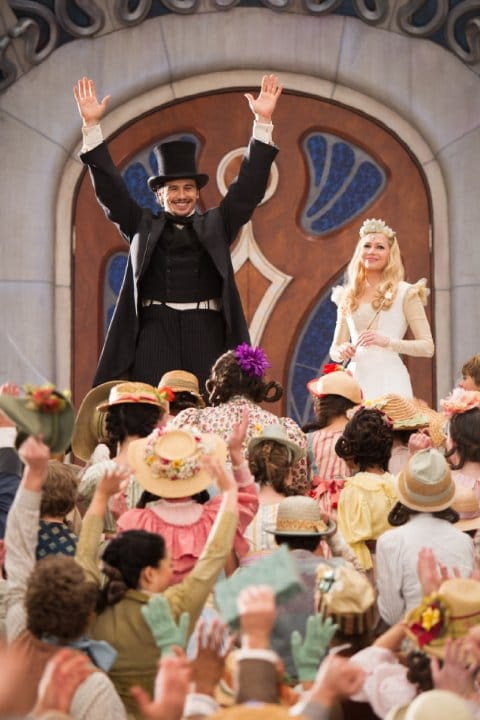 James Franco and Michelle Williams in Oz the Great and Powerful Photo: Disney