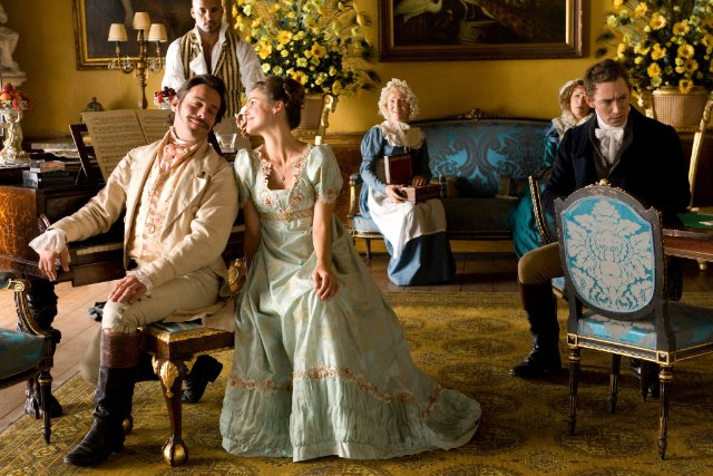 Keri Russell, Jane Seymour, James Callis, JJ Field, and RIcky Whittle in Austenland Photo: Sony Pictures Classics