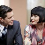 Miss Phryne Fisher (Essie Davis) and Detective Inspector Jack Robinson (Nathan Page). Photo: Acorn