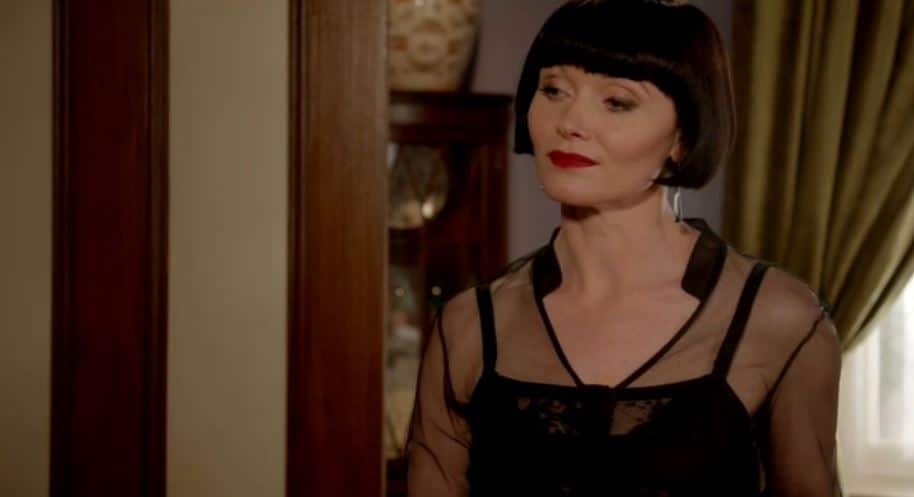 Miss Fisher looks on after fortune