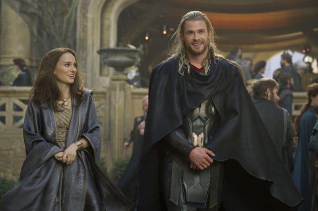 Natalie Portman and Chris Hemsworth in Thor: The Dark World. Photo: Marvel