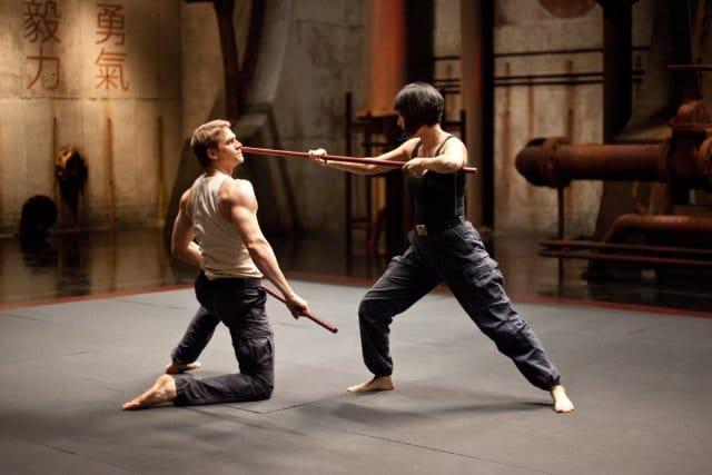 Charlie Hunnam and Rinko Kikuchi in Pacific Rim. Photo: Warner Brothers