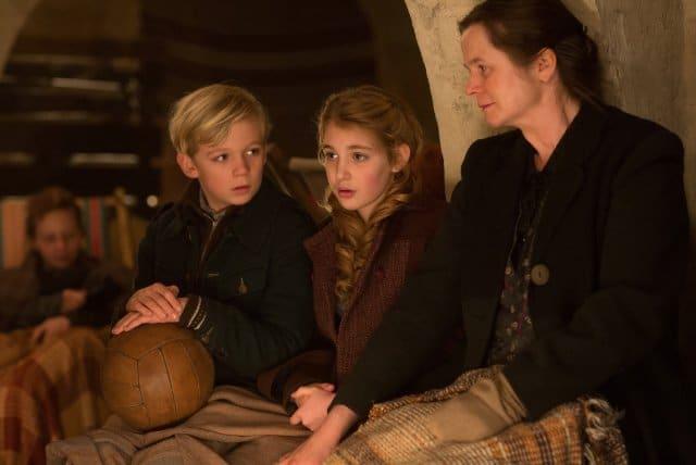 Emily Watson, Nico Liersch, and Sophie Nelisse in The Book Thief. Photo: Twentieth Century Fox