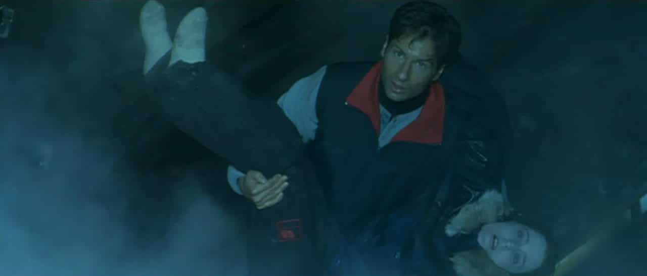 Mulder rescues Scully in Fight the Future. Photo: Fox