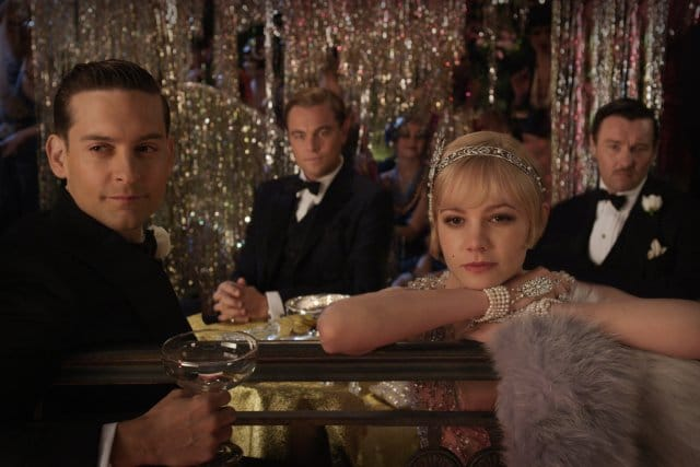 Leonardo DiCaprio, Tobey Maguire, Joel Edgerton, and Carey Mulligan in The Great Gatsby. Photo: Warner Brothers