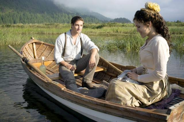 Erin Krakow and Daniel Lissing in When Calls the Heart. Photo: Hallmark
