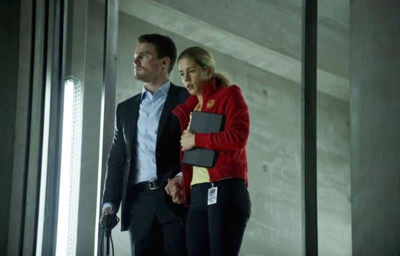 Felicity and Oliver from Arrow. Photo: CW
