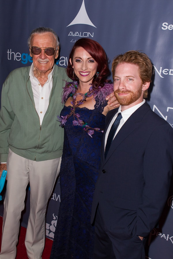 Stan Lee, Seth Green and Kristen Nedopak at The Geekie Awards. Photo: By Joe Lester