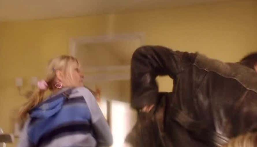 Jackie slaps the Doctor