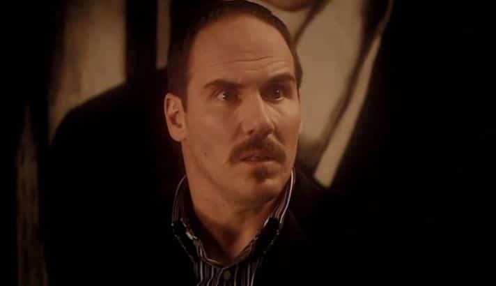 Van Statten's face when he realizes the Doctor is going go open the bunker for Rose.