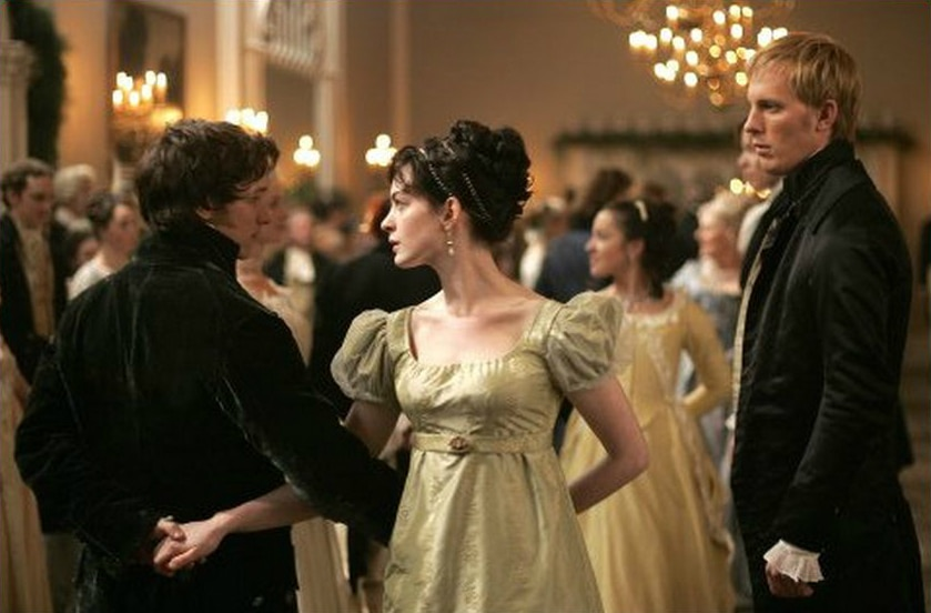 Becoming Jane starring James McAvoy and Anne Hathaway. The dance sequence.