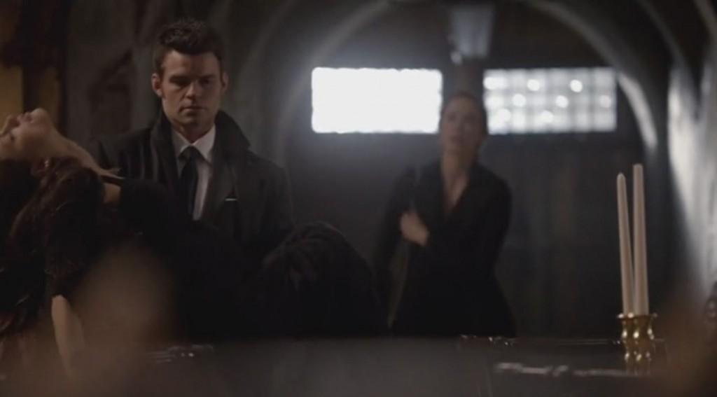 Elijah carries Hayley