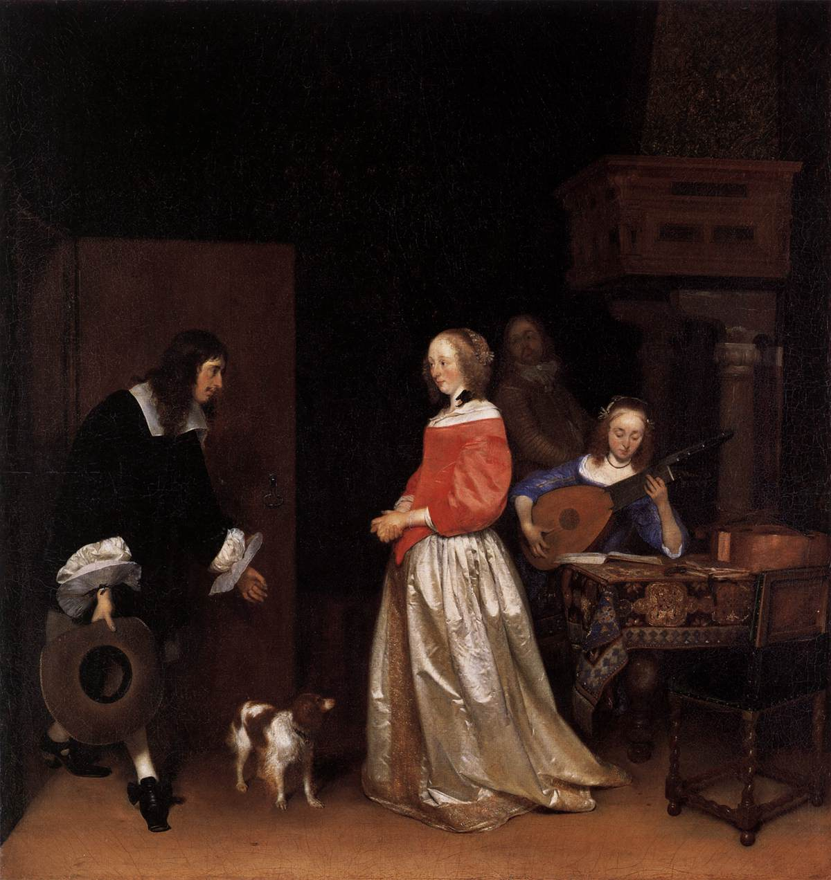 Gerard ter Borch, The Suitor's Visit, circa 1658, oil on canvas