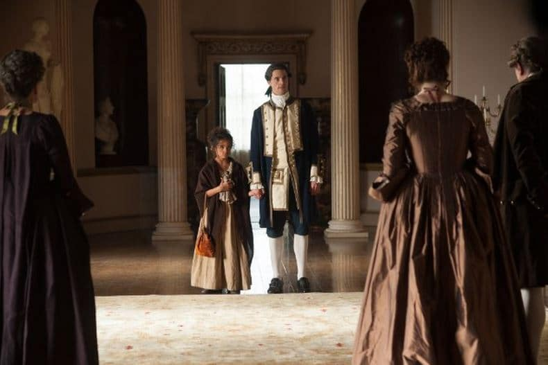 Young Belle with her father (Matthew Goode) Photo: Fox Searchlight Pictures