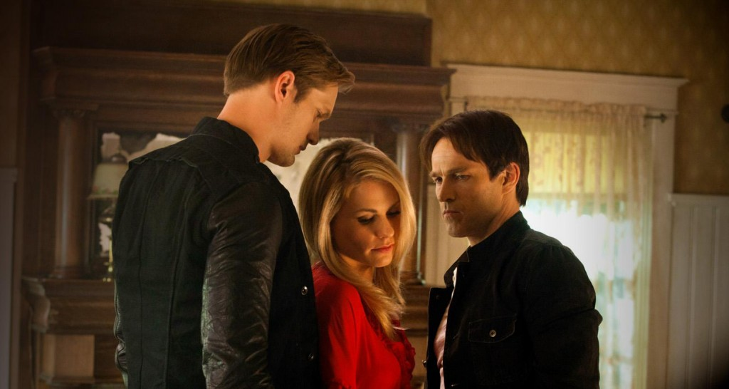 Eric, Sookie, and Bill in True Blood. Photo: HBO