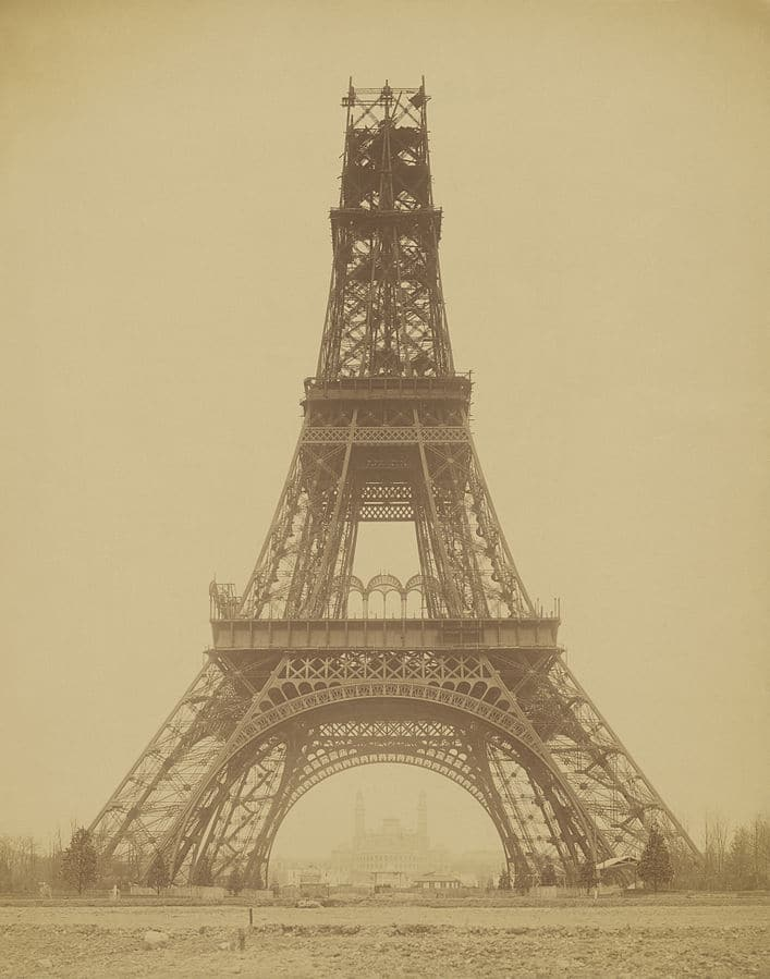 """The Eiffel Tower - State of the Construction, 1888"" by Louis-Emile Durandelle"