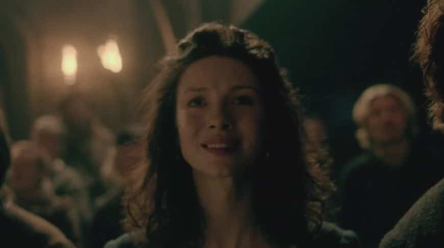 Claire listening to folktale_outlander
