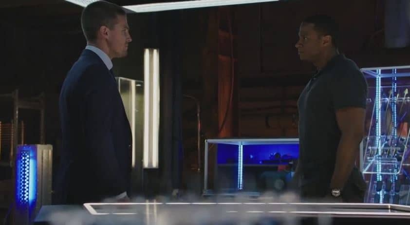Oliver and Diggle fight