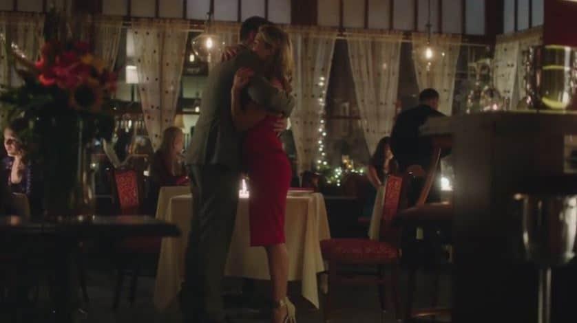Oliver and Felicity hug