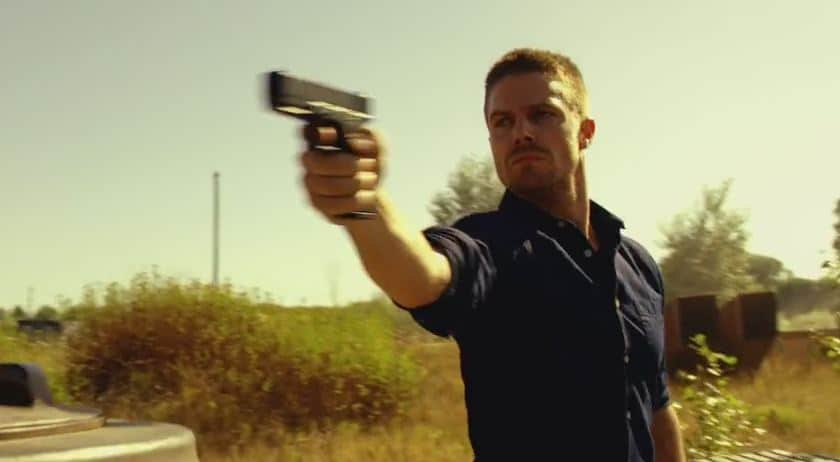 Oliver with gun