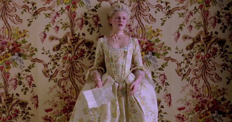 Snapshot of clip from Marie Antoinette used in Viva Voce by Rebecca De Havas