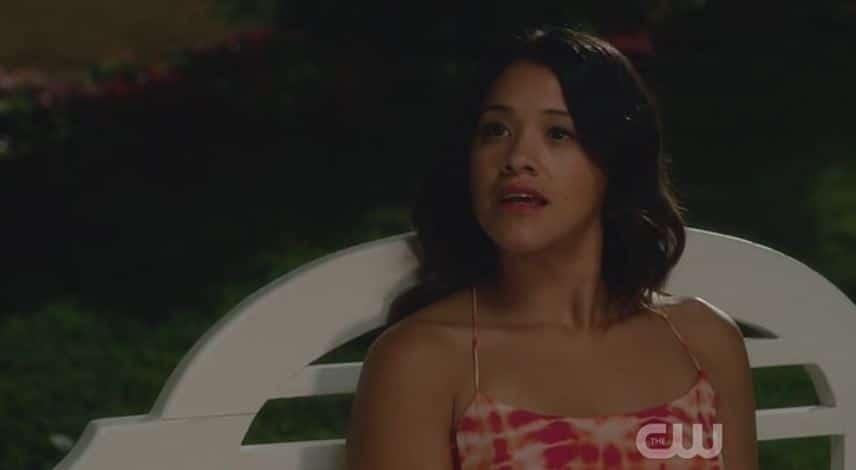 Jane looks at Rafael