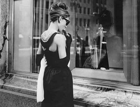 Holly looking in the window of Tiffany's. Photo: Paramount Pictures